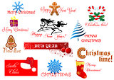 New Year and Chrismas symbols