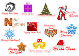 Headlines and icons for Christmas holiday