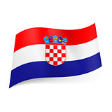 State flag of Croatia.