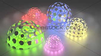 Abstract Background With Shining Spheres