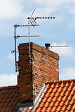 TV aerial on chimney