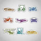 flat retro color stickers - set eleven