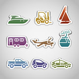 flat retro color stickers - set nine
