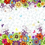 Seamless floral spring pattern