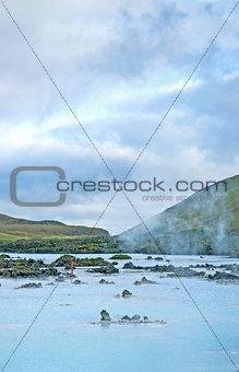 blue lagoon pools near reykjavik iceland