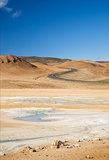 volcanic desert landscape in iceland