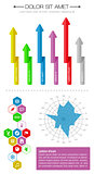 Ui, infographics and web elements including flat design. EPS10 vector illustration.