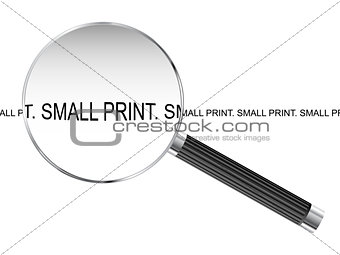 Small Print Magnifying Glass