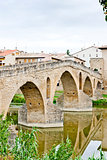romanesque bridge over river Arga, Puente La Reina, Road to Sant