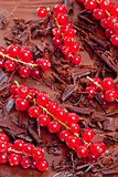 red currant with chocolate