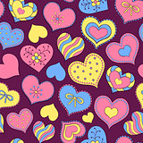 colorful valentine hearts