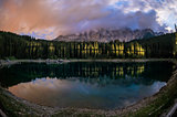 Karersee night view, Dolomiti - Italy