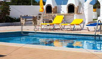 Beautiful swimming pool in hotel