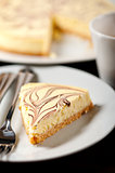 Cheese cake and espresso coffee