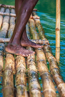 Captain's On Bamboo Boat