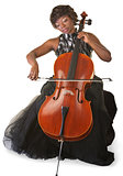 Isolated Cello Player