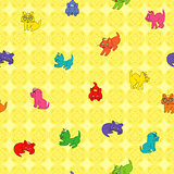 Seamless Kittens Pattern