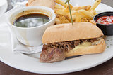 Philadelphia Beef Cheese Steak Sandwich