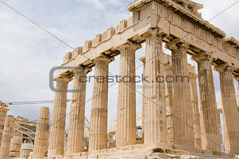 Ruins of old temple in Athens, Peloponnese, Greece