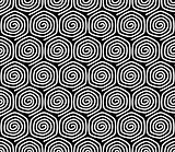 Seamless pattern with spiral elements.