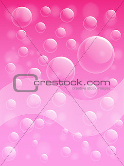 Air bubble on pink background