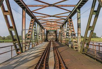 Bridge Friesenbrucke near Weener in Germany