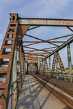 Railroad bridge Friesenbrucke close to Weener in Germany