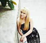 long hair blond female