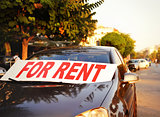 car for rent in the street
