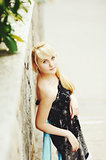 blond hair young girl