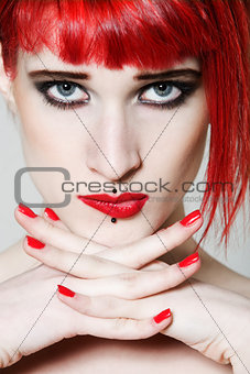 Funny & sexy expressive redhead girl
