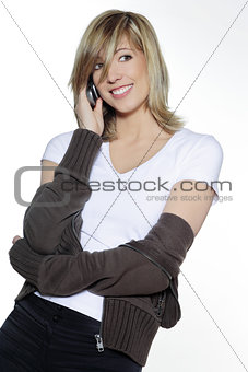 woman on the telephone portrait