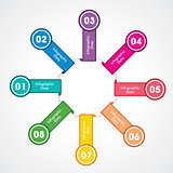 creative arrow info-graphic