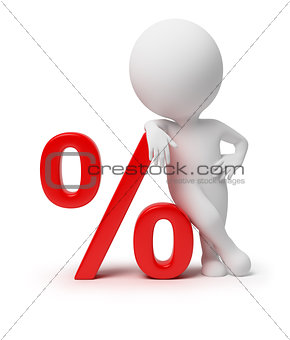 3d small people - percent