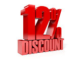 12 percent discount. Red shiny text.