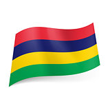 State flag of Mauritius.