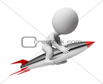 3d small people - rocket