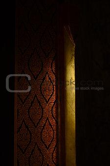 Church door.
