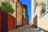 Stockholm. Narrow street at Sodermalm