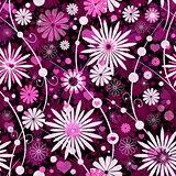 Seamless valentine floral pattern