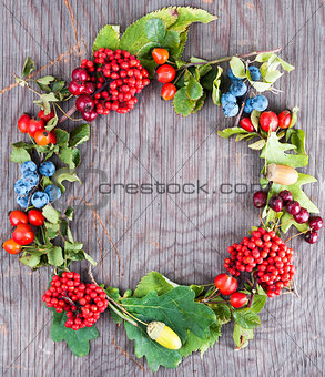 Autumn berry wreath