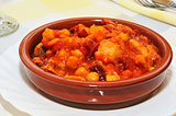 spanish callos, a stew with beef tripe typical of Spain