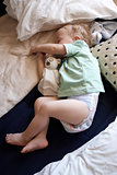 A little boy asleep