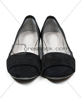 pair of black shoes