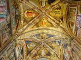 Ceiling of Castellani Chapel in Basilica di Santa Croce. Florence, Italy