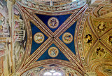 Ceiling of Baroncelli Chapel in Basilica di Santa Croce. Florence, Italy