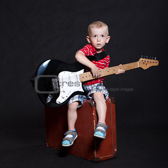 Little boy in the studio