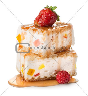 Cakes with souffle and marmelade