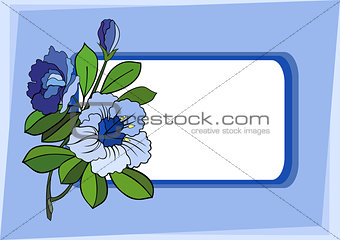 Abstract flower branch with background