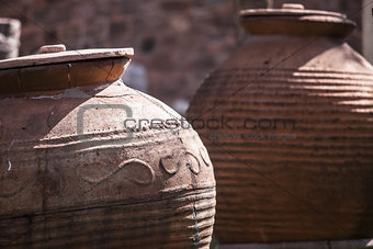 Ancient jugs in Turkey